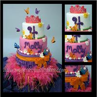 Fancy Nancy (TM) inspired cake