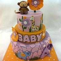 Jacana Nursery Themed Baby Shower Cake
