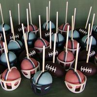 Super Bowl 50 Cake Pops