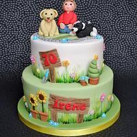 Garden and Dog Lover's Cake