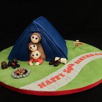 Camping Novelty Cake