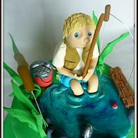 Fishing by The cake shop at highland reserve