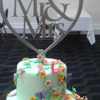 Quirky wedding cake