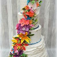 Tropical weddingcake