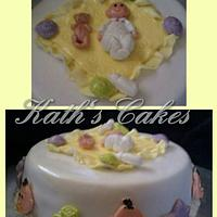 baby shower cake by Cakemummy
