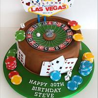 Las Vegas Roulette wheel cake