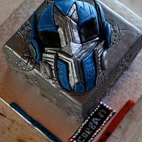 Optimus Prime and the All Spark cube by Joy Apollis