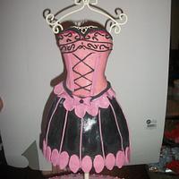 Birthday dress cake by Sher