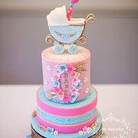 Peek-a-boo! ~ Baby shower cake