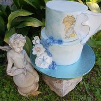 Angel christening cake