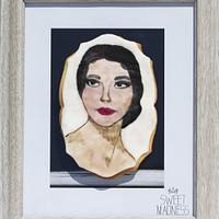 Hand Painted Cookie Maria Kallas Gone but not forgotten