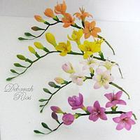 Freesias in full bloom