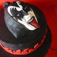 Gene Simmons (KISS) cake