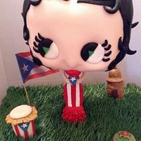 Puerto Rican Gravity Defying Betty Boop Cake