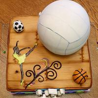 Sport and dance cake.