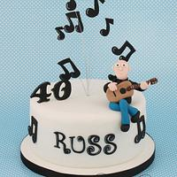 Guitar/Music Cake by Little Cherry