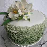 Ruffled Tulip Cake