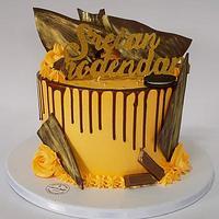 Orange Drip Cake
