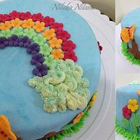 Rainbow cake by Nilu's Cake D'lights