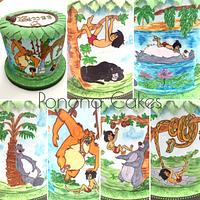 Jungle book hand painted cake
