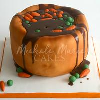 Yorkshire Pudding, Carrots, Peas and Gravy Cake