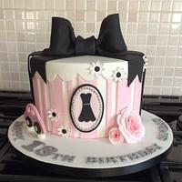 Simple Elegance 18th Birthday Cake