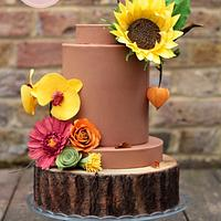 Wafer Paper Autumn Cake
