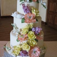 Wedding Cake Inspired by Peggy Porschen