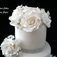 Classic White Wedding Cake by SignatureCake