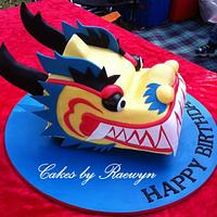 Dragon Boat head for Mark