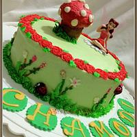 Garden themed cake with Rossetta