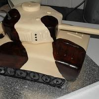 Tank Birthday Cake