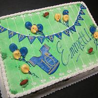 Football field sheet cake