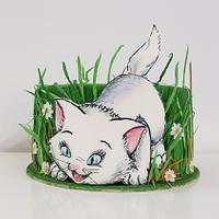 Kitty in the grass