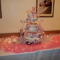 Butterfly Wedding Cake by FoxyRoxy