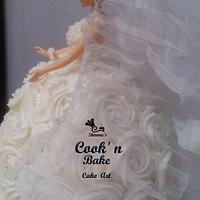 Bridal barbie cake... by Shimna Abdul Majeed