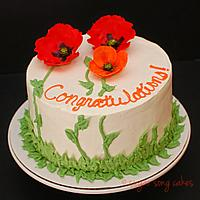 Happy Poppies Celebration Cake