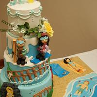 multi-tematic wedding cake