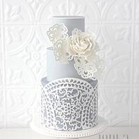 Laser-Cut Cake and Fleur