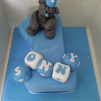 Tatty Teddy style 1st Birthday Cake