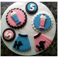 50's Theme Cupcake Toppers