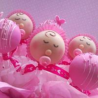 Girl Baby Shower cake pops