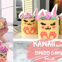 KAWAII BUNNY SWISS CAKE ROLL!