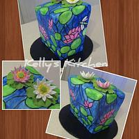 Stained glass birthday cake