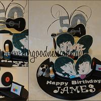 Beatles themed cake