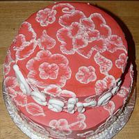 Raspberry Baby Shower cake