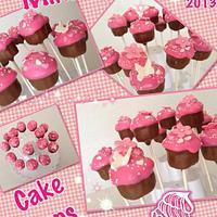 Mini cupcake cake pops