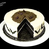 Halloween Black Velvet Cake
