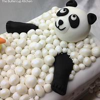 Panda in the bath