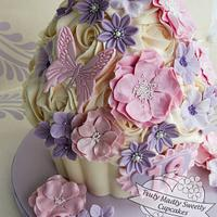 Pretty Pastels 18th Birthday Giant Cupcake